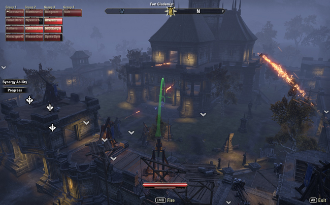 Operating a Siege Machine in ESO